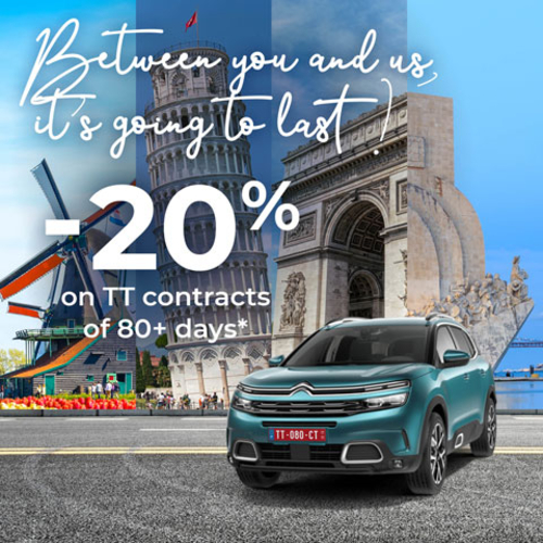 Let's celebrate! -20% discount on your Citroën long-term contract