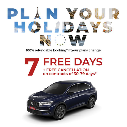 7 Free Days and 100% discount on delivery and restitution costs