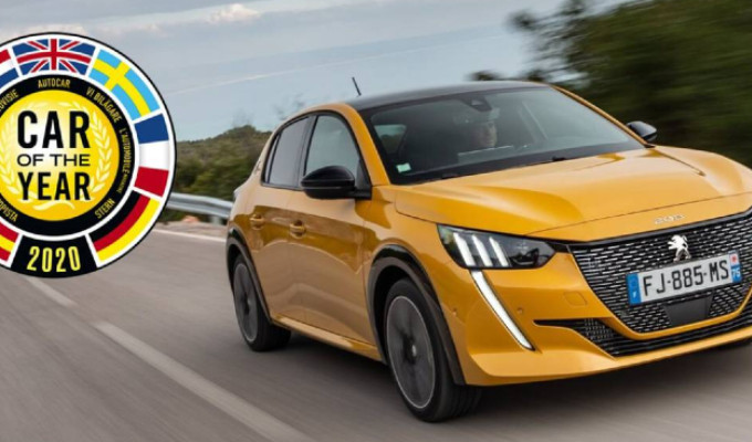 PEUGEOT 208 SACRED CAR OF THE YEAR 2020
